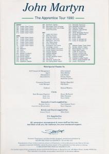 The Apprentice Tour Programme